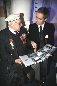 Veteran Gordon Long receiving my book
