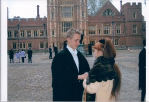 Graduating as a King's Scholar from Eton