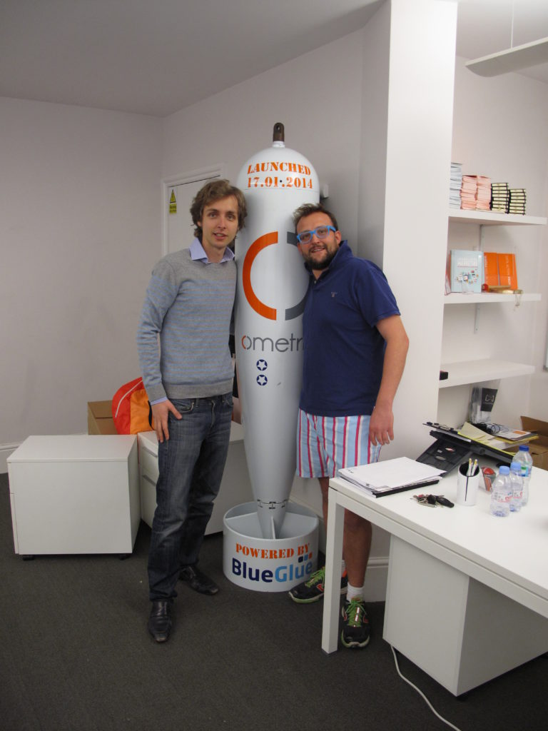 The torpedo, the CEO of BlueGlue, and me